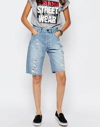 Длинные джинсовые шорты в мальчишеском стиле ASOS - Светло-голубой