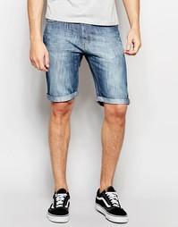 Джинсовые шорты с 5 карманами Threadbare - Синий