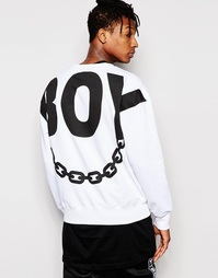 Свитшот с принтом на спине Boy London - Белый