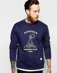 Темно-синий свитшот с принтом Penfield Camping Club - Темно-синий