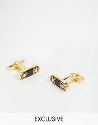 Золотистые запонки в стиле ретро Reclaimed Vintage - Золотой