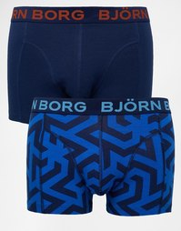 Набор из 2 боксеров‑брифов Bjorn Borg - Синий