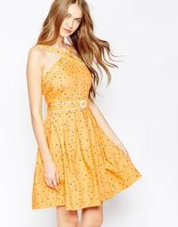 Платье Trollied Dolly Cross my Heart - Желтый в крапинку