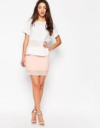 Двуслойная мини‑юбка Neon Rose - Розовый
