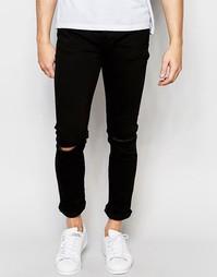 Рваные джинсы скинни Threadbare - Черный