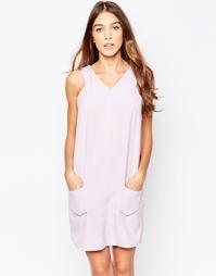 Цельнокройное платье с карманами Style London - Лиловый