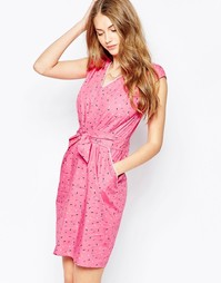 Платье с декольте Trollied Dolly Take - Розовые брызги