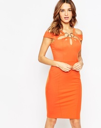 Бандажное платье миди Forever Unique Krista - Оранжевый