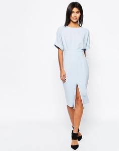 Платье с разрезом спереди ASOS - Синий