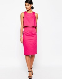ASOS Structured Double Layer Pencil Dress - Розовый
