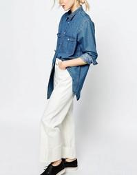 Широкие укороченные джинсы Monki - Бежевый