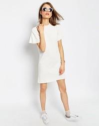 Легкое платье-свитшот с короткими рукавами ASOS - Кремовый