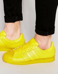 Желтые кроссовки Аdidas Originals Superstar Аdicolor S80328 - Желтый