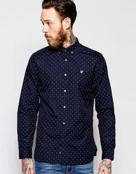 Рубашка в горошек Lyle & Scott - Темно-синий