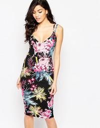 Платье на бретельках Jessica Wright Judy - Тропический принт