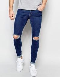 Рваные супероблегающие джинсы Dr Denim Dixy - 70s stone