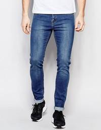 Синие джинсы скинни Dr Denim - Выбеленный голубой
