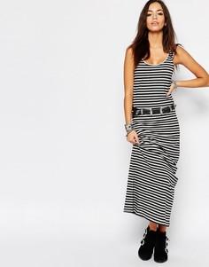 Трикотажное платье макси в полоску Only Abbie - Мульти