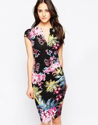 Платье-футляр миди Jessica Wright Samantha - Tropical