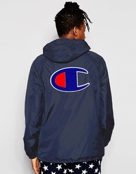 Спортивная куртка через голову с логотипом сзади Champion