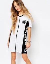 Платье-футболка с молнией спереди Vans Summer Nummer