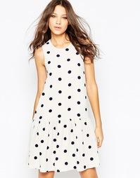 Платье с заниженной талией и принтом в горошек Y.A.S Tall - Moonbeam