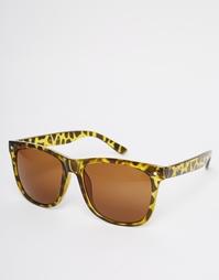 Солнцезащитные очки в стиле ретро Jack & Jones - Коричневый