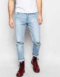 Светлые джинсы скинни Hoxton - Синий