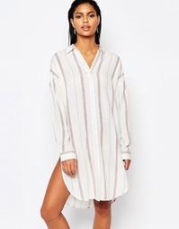 Платье-рубашка в полоску Moon River - Белый