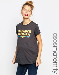Футболка для беременных ASOS Maternity Wonder Woman - Серый