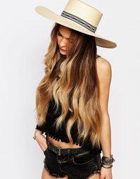 Соломенная шляпа матадора с широкими полями и плетеным ремешком Brixto Brixton