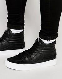 Черные кроссовки с молнией Vans Sk8-Hi Reissue V4KYII7 - Черный