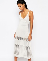Трикотажное платье миди Moon River - Естественный