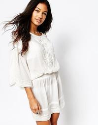 Платье с присборенной талией Star Mela Betsie - Экрю