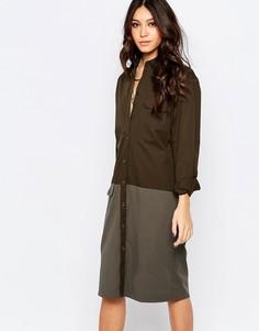 Джинсовое платье в стиле милитари Northmore - Зеленый