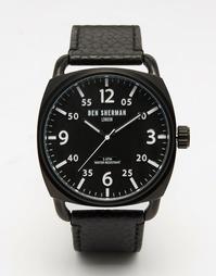 Черные часы с циферблатом в елочкуBen Sherman Covent - Черный