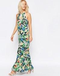 Платье макси с тропическим цветочным принтом Girls on Film - Мульти