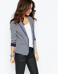Строгий пиджак в полоску Esprit - Темно-синий