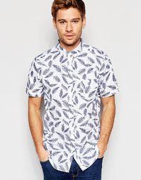 Рубашка с короткими рукавами и перьями Brave Soul - Белый