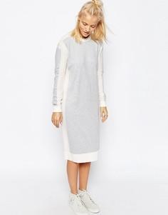 Трикотажное платье миди колор блок ASOS WHITE
