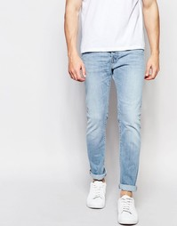 Синие джинсы слим с эффектом поношенности Edwin Jeans ED-80
