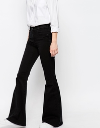 Облегающие расклешенные джинсы с завышенной талией Dr Denim Brigitte