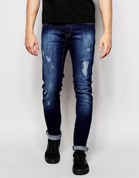 Потертые темные джинсы скинни Loyalty & Faith - Синий