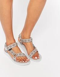 Бежевые сандалии с принтом Teva Original Universal