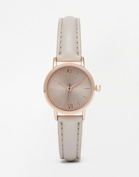 Однотонные часы с маленьким циферблатом ASOS - Серый