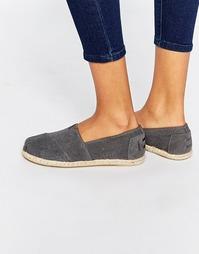 Серые замшевые классические туфли TOMS - Темно-серая замша