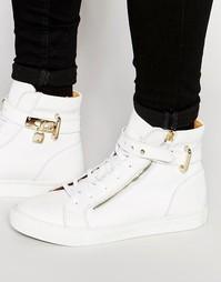 Высокие кожаные кроссовки Walk London - Белый