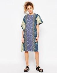 Платье-футболка свободного кроя с цветочным принтом ASOS AFRICA x Chic