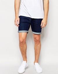 Эластичные джинсовые шорты слим цвета индиго ASOS - Indigo - индиго