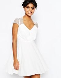 Кружевное платье мини ASOS Kate - Белый